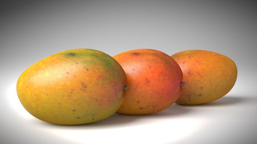 Realistic Mango royalty-free 3d model - Preview no. 5