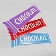 Paquet De Chocolat 3d model