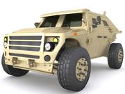 Fuel Efficient Ground Vehicle Demonstrato 3d model