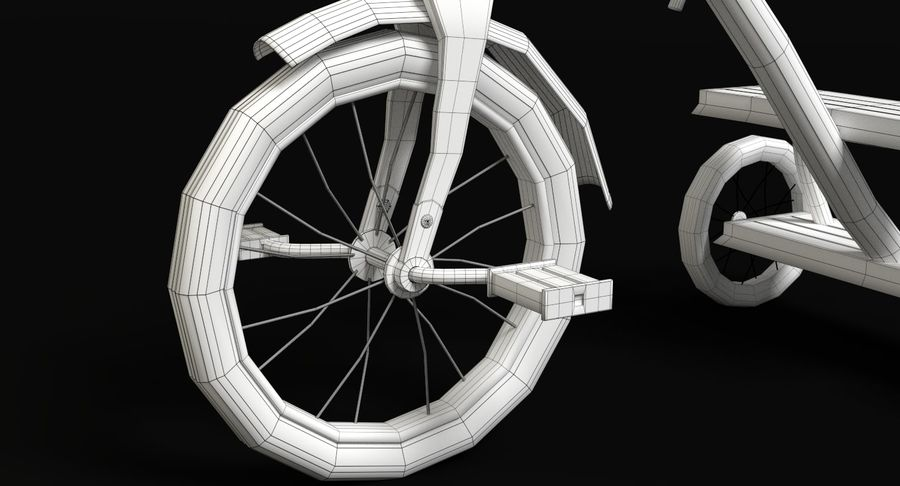 Triciclo royalty-free 3d model - Preview no. 10