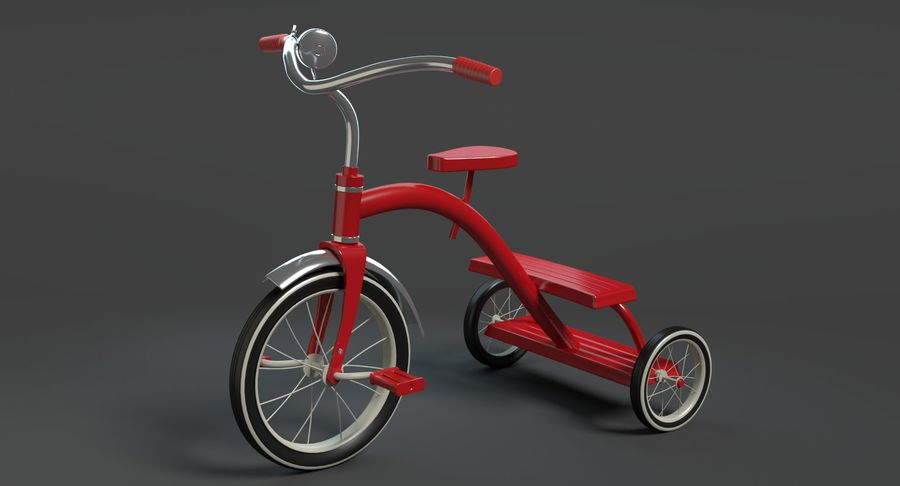 Triciclo royalty-free 3d model - Preview no. 3
