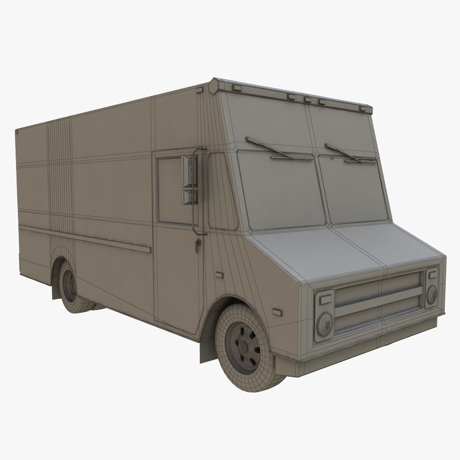FedEx Truck royalty-free 3d model - Preview no. 11