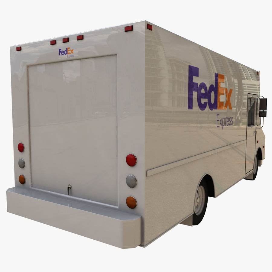 FedEx Truck royalty-free 3d model - Preview no. 4