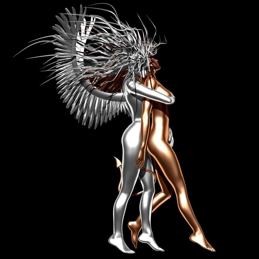 Statue démon ange royalty-free 3d model - Preview no. 1
