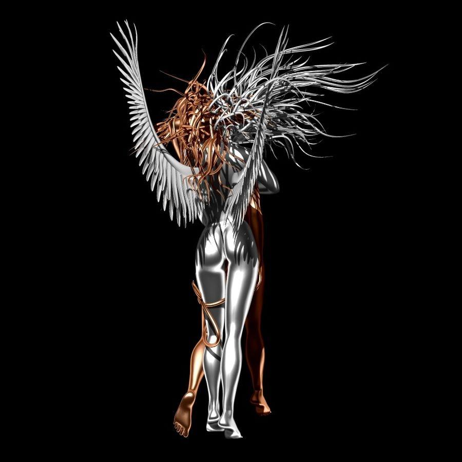 Statue démon ange royalty-free 3d model - Preview no. 6