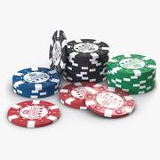 Żetony kasyna 2 3d model