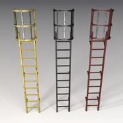 Fire Escape Ladder 3d model
