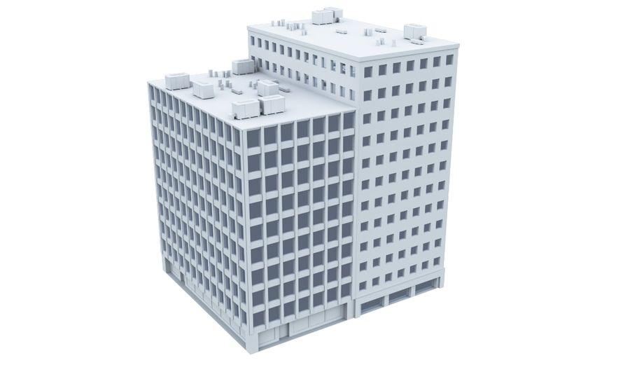 Budynek biurowy 09 royalty-free 3d model - Preview no. 3