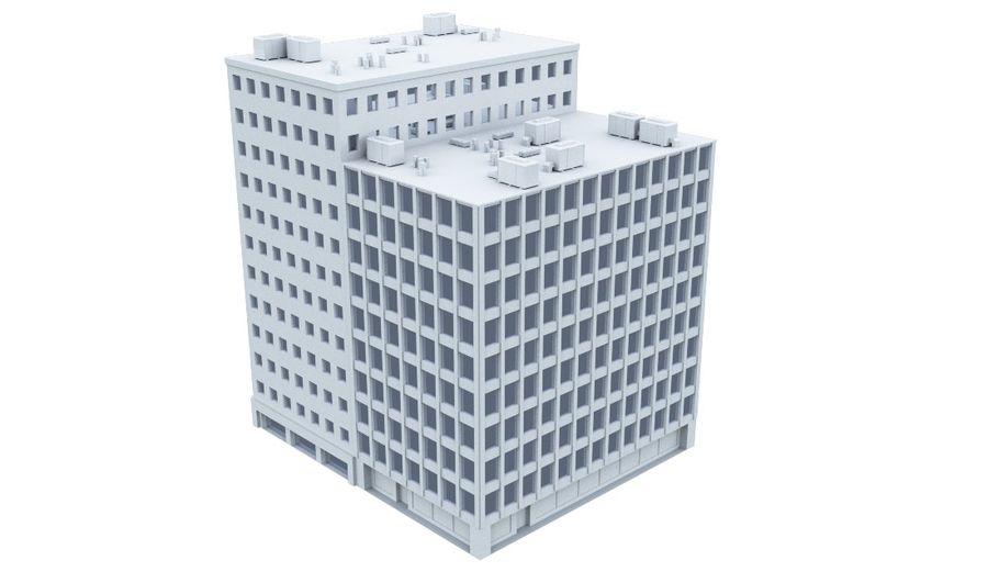 Budynek biurowy 09 royalty-free 3d model - Preview no. 2