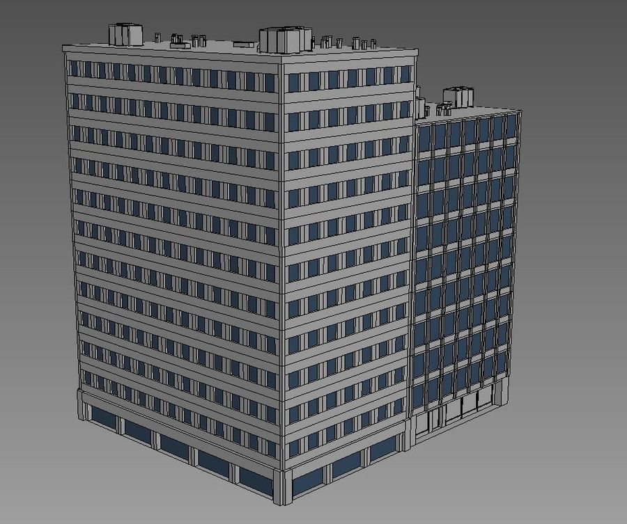 Budynek biurowy 09 royalty-free 3d model - Preview no. 5