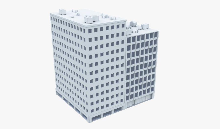 Budynek biurowy 09 royalty-free 3d model - Preview no. 1