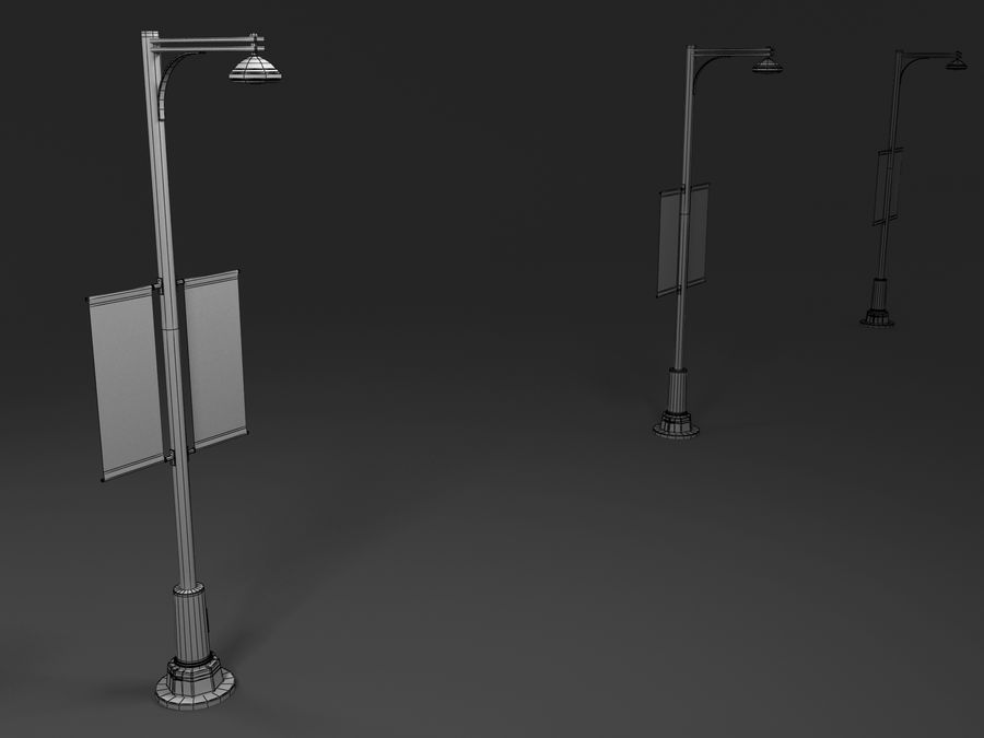street lamp royalty-free 3d model - Preview no. 3