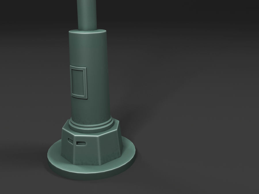 street lamp royalty-free 3d model - Preview no. 15