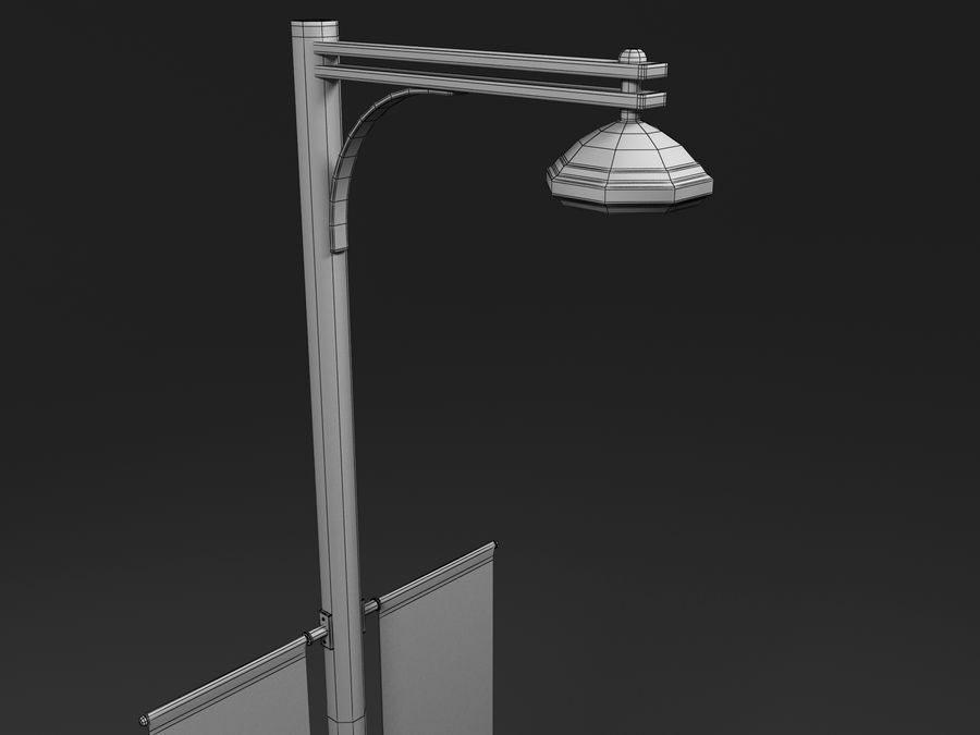 street lamp royalty-free 3d model - Preview no. 9