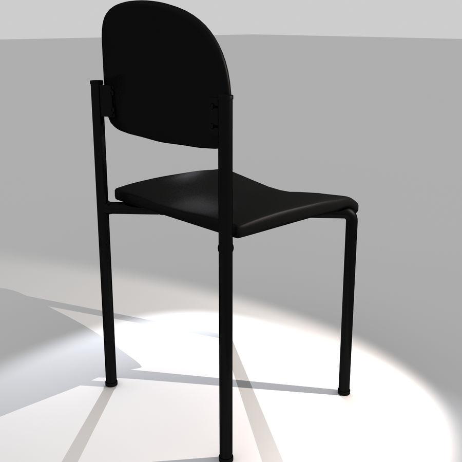 Proste krzesło royalty-free 3d model - Preview no. 4