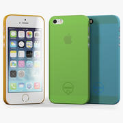 Apple iPhone 5S with Case Ozaki Jelly 3d model