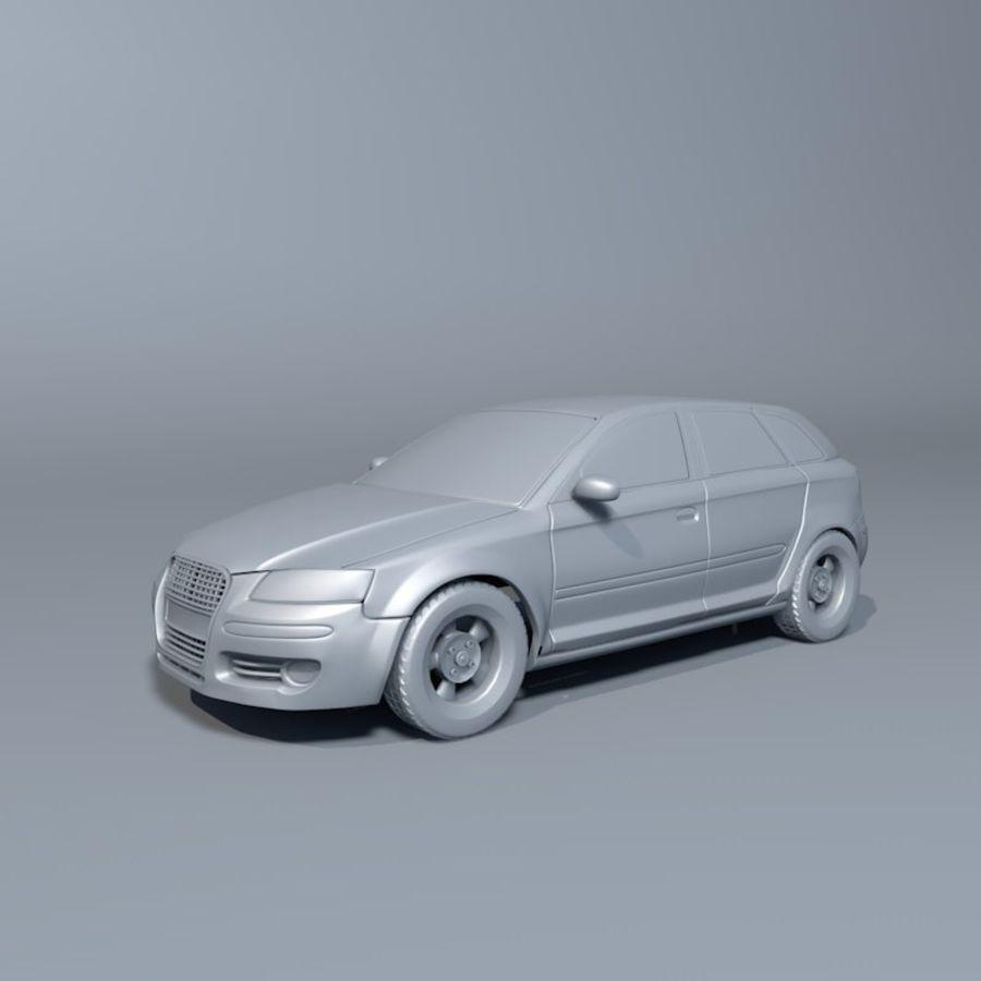 Автомобиль А3 royalty-free 3d model - Preview no. 1