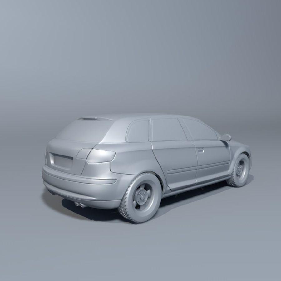 Автомобиль А3 royalty-free 3d model - Preview no. 3