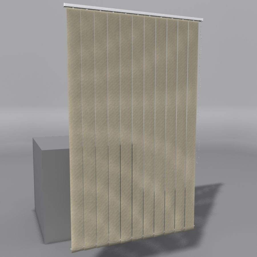Vertical Blinds royalty-free 3d model - Preview no. 1