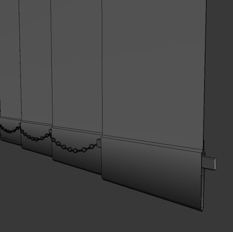 Vertical Blinds royalty-free 3d model - Preview no. 5