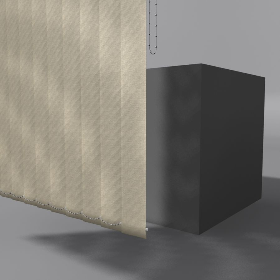 Vertical Blinds royalty-free 3d model - Preview no. 3