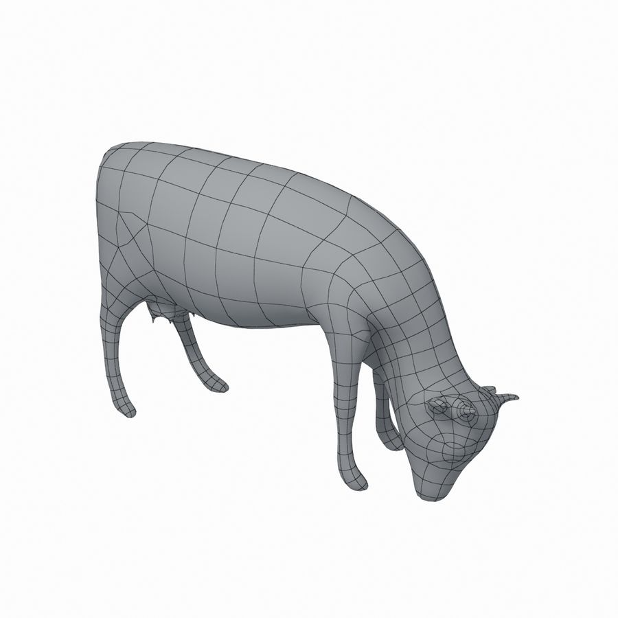Cow animal royalty-free 3d model - Preview no. 6