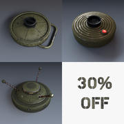 Collection of Mines 3d model