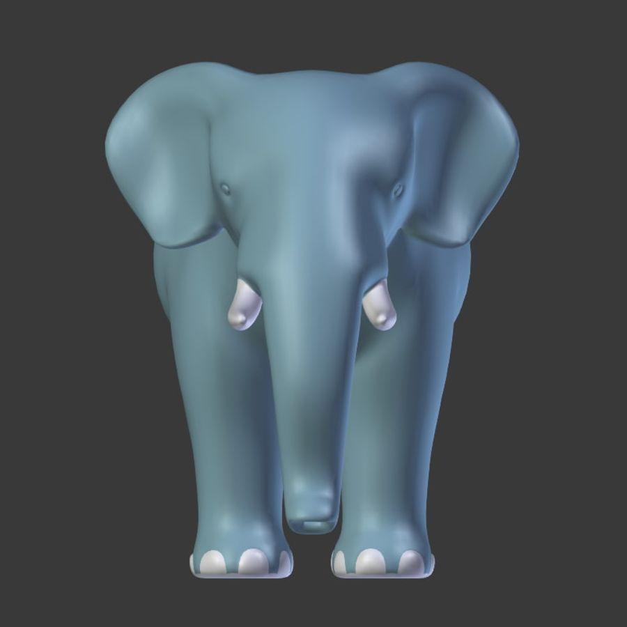 Éléphant de bande dessinée royalty-free 3d model - Preview no. 10