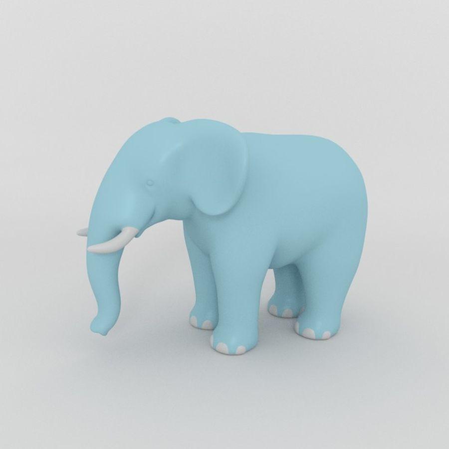 Éléphant de bande dessinée royalty-free 3d model - Preview no. 1