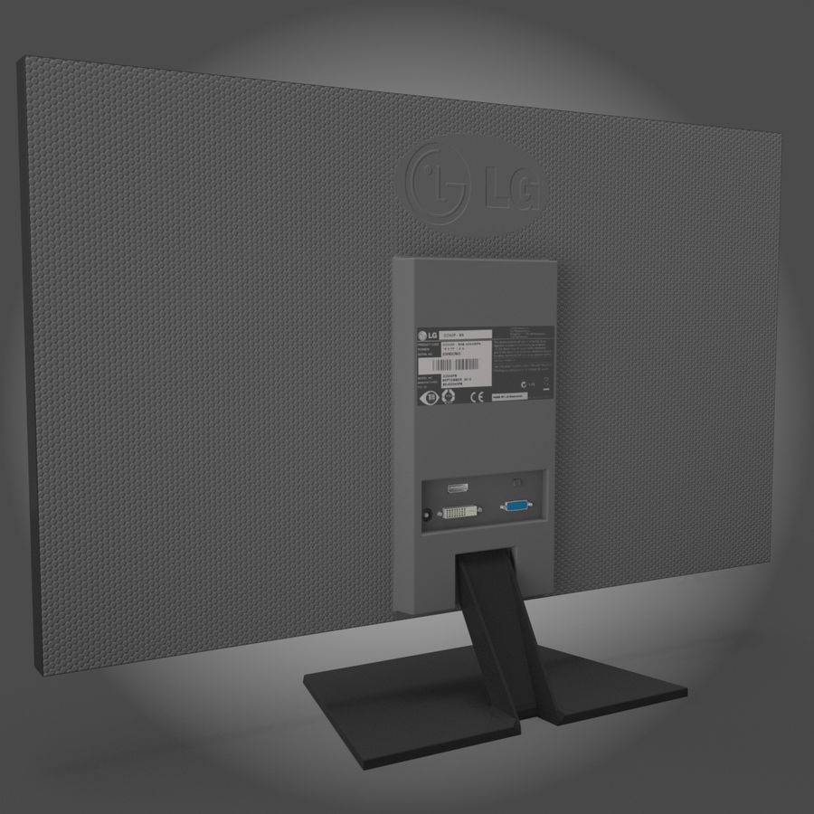 LG  LED Monitor / TV royalty-free 3d model - Preview no. 4