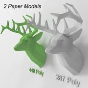 Papel principal dos cervos 3d model