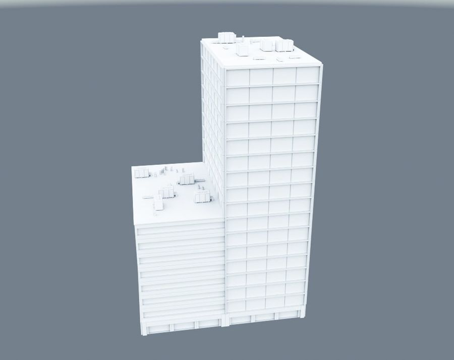 Office Building 01 royalty-free 3d model - Preview no. 5