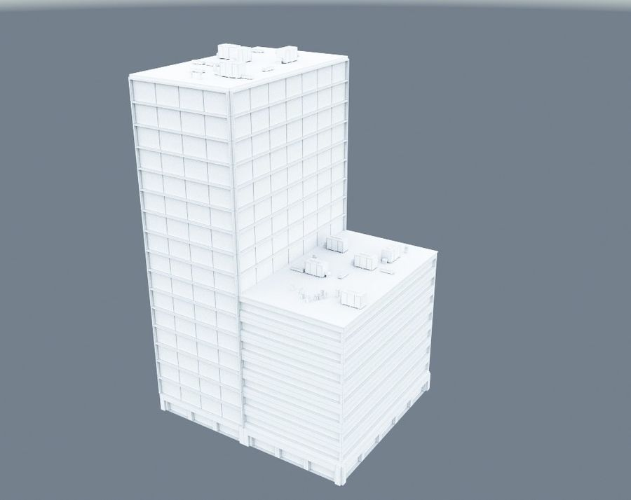 Office Building 01 royalty-free 3d model - Preview no. 4