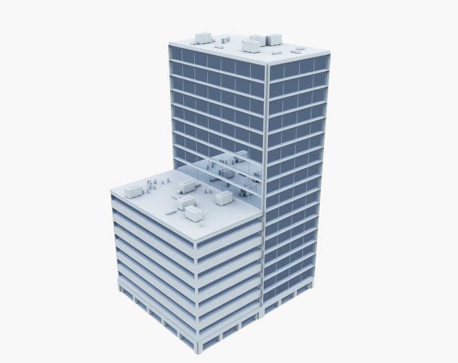 Office Building 01 royalty-free 3d model - Preview no. 2