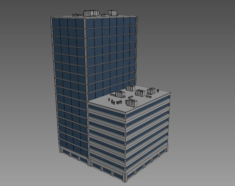 Office Building 01 royalty-free 3d model - Preview no. 6