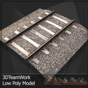 Train Rail v01 TD Low Poly 3d model