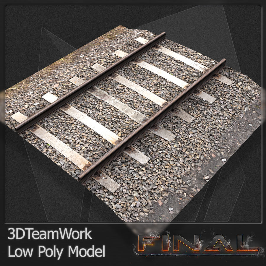 Tren Rail V01 TD Low Poly royalty-free modelo 3d - Preview no. 1