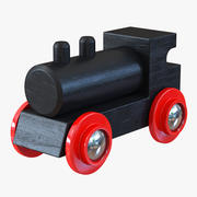Drewniany Toy Train 3 3d model