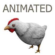 Ręcznie Malowane Kurczaki 3d model