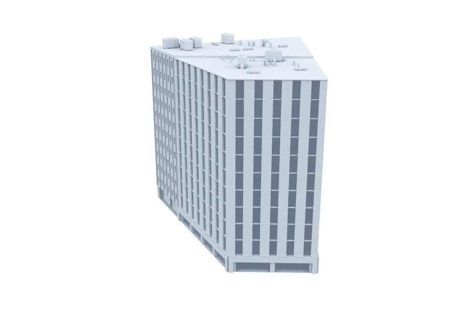Office Building 06 royalty-free 3d model - Preview no. 3