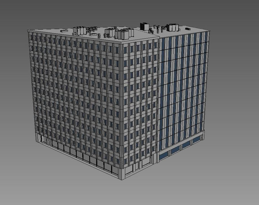 Office Building 06 royalty-free 3d model - Preview no. 4