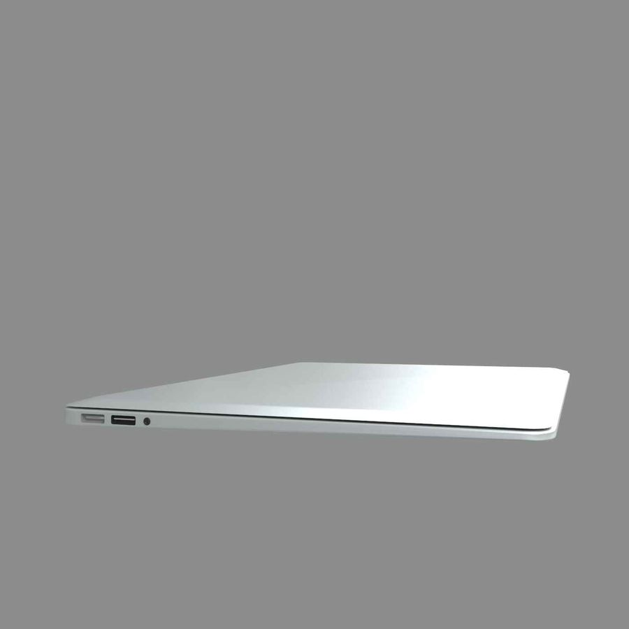 laptop slim royalty-free 3d model - Preview no. 2