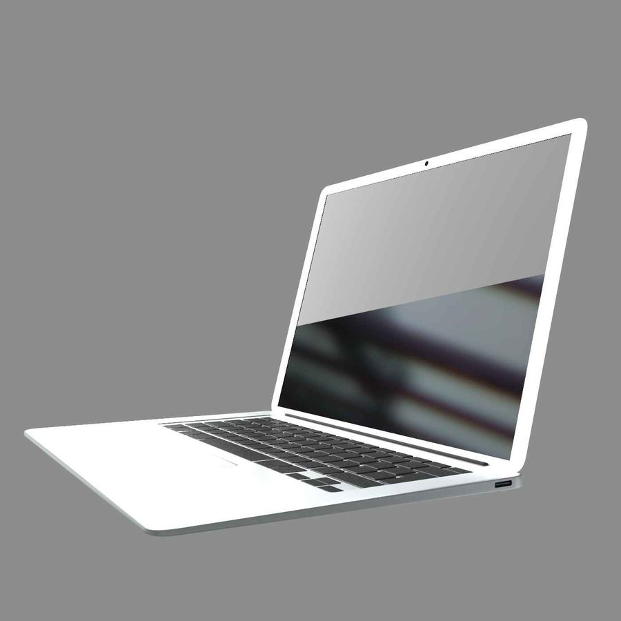 laptop slim royalty-free 3d model - Preview no. 5