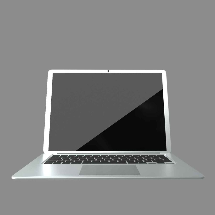 laptop slim royalty-free 3d model - Preview no. 4