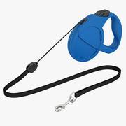 Chien Laisse 1 Bleu 3d model
