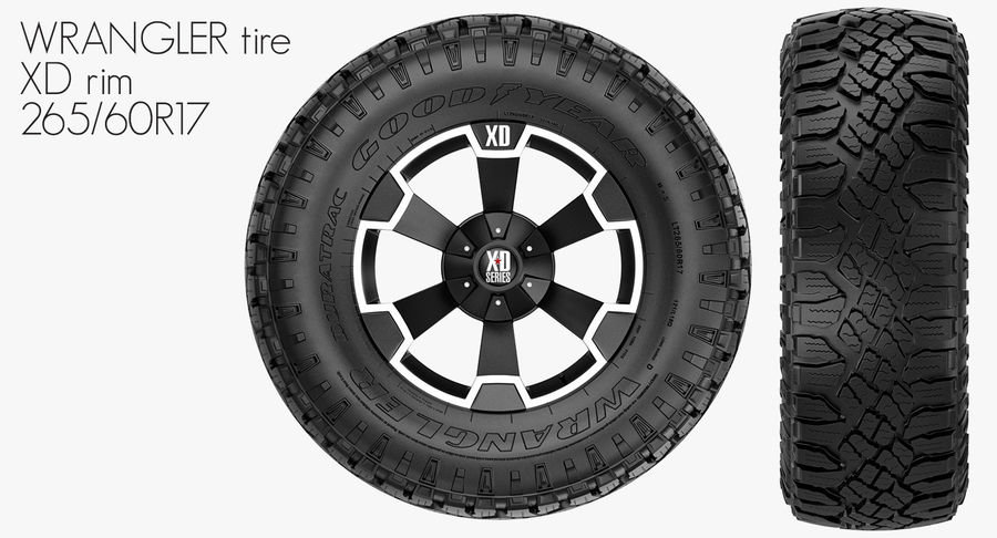 Off Road Wheel XD & WRANGLER royalty-free 3d model - Preview no. 2