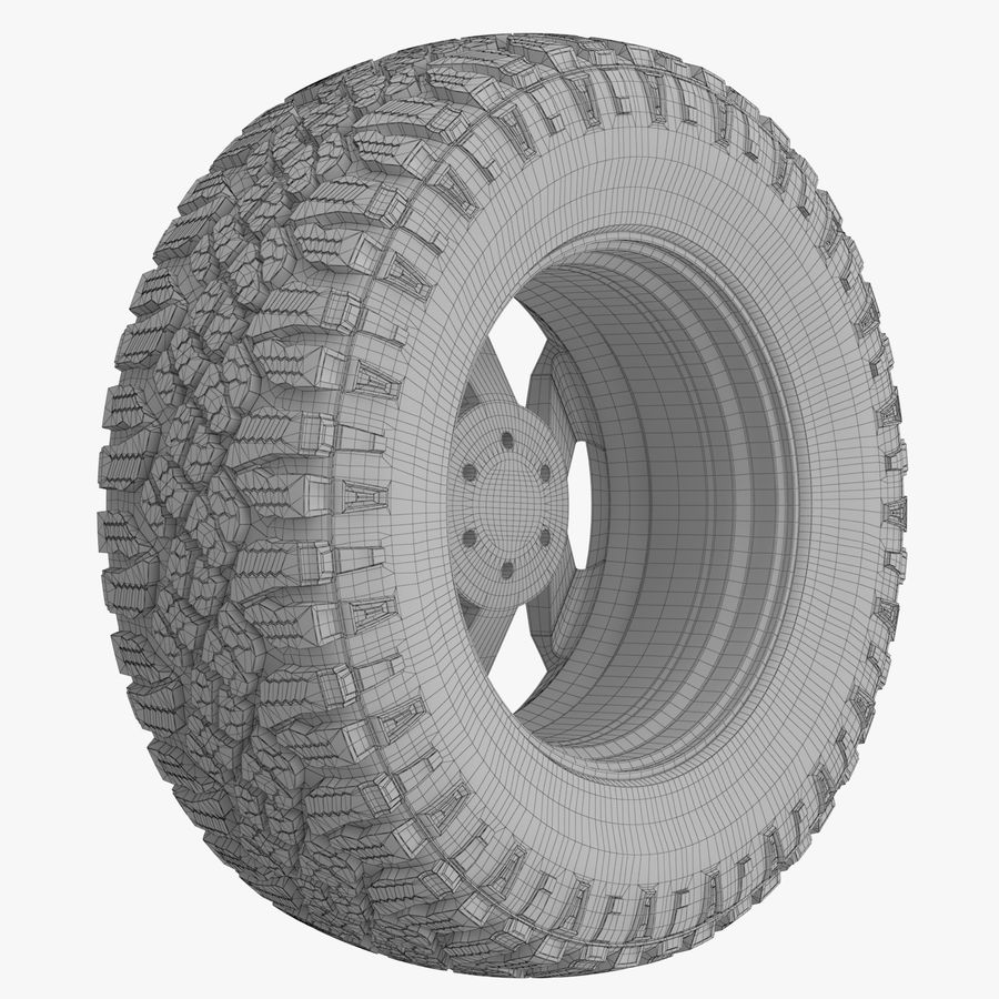 Off Road Wheel XD & WRANGLER royalty-free 3d model - Preview no. 8