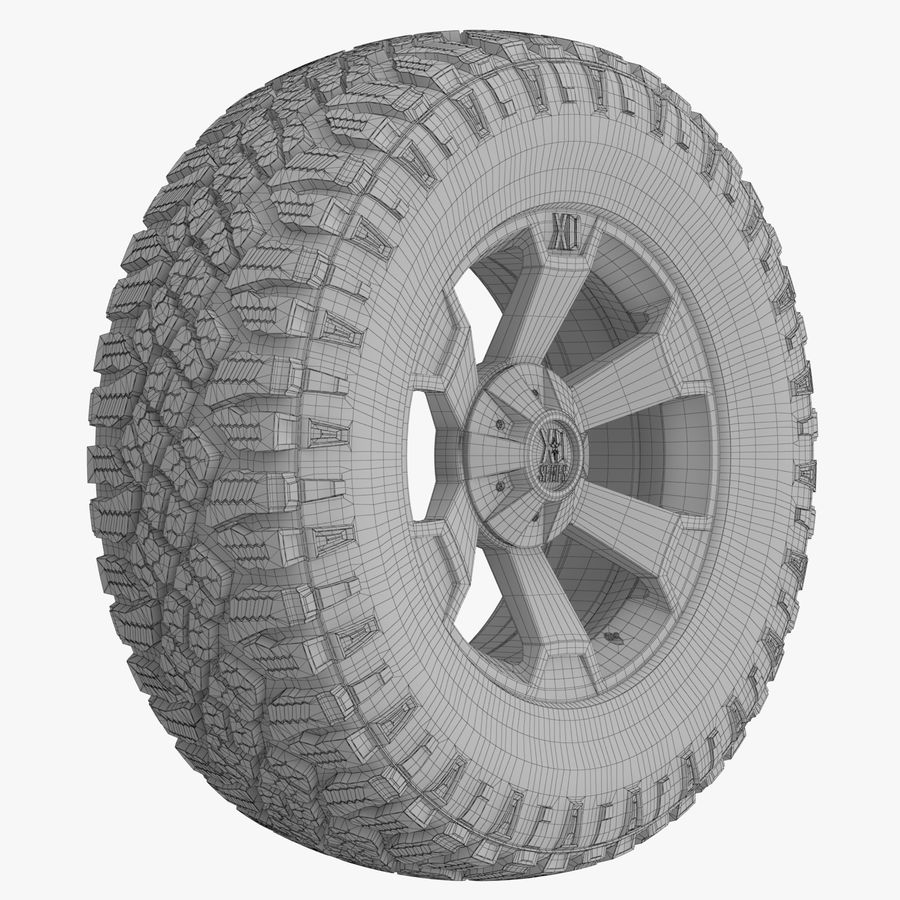 Off Road Wheel XD & WRANGLER royalty-free 3d model - Preview no. 7