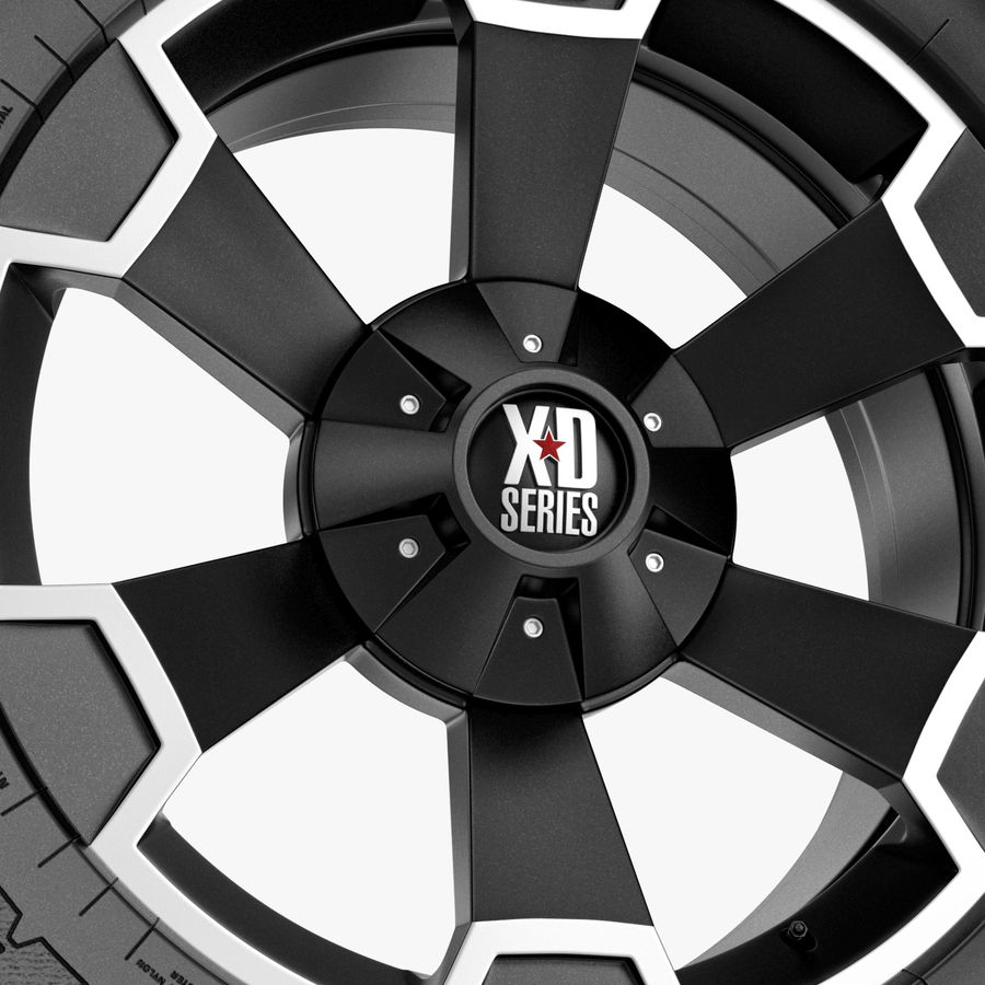 Off Road Wheel XD & WRANGLER royalty-free 3d model - Preview no. 3