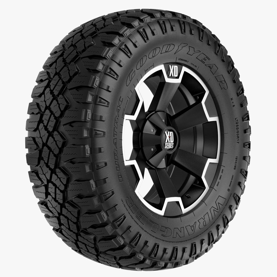 Off Road Wheel XD & WRANGLER royalty-free 3d model - Preview no. 1